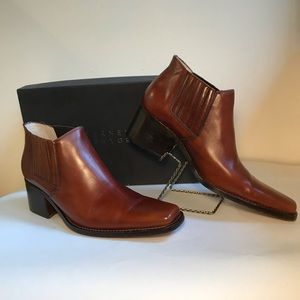 Barney's Leather Tiding Boot Ankle Cognac euro 40